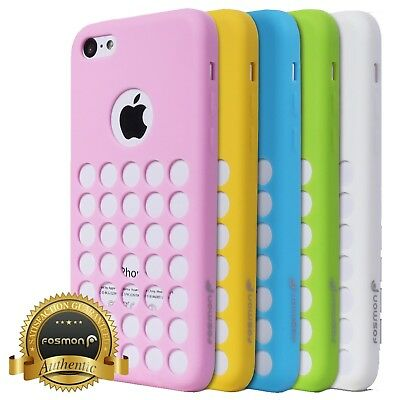 Lot of 6 Multicolor Anti-Slip Circle Cutout TPU Skin Case for Apple iPhone 5c