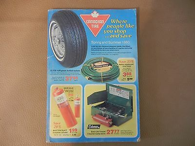 1980  Ctc Spring & Summer  Canadian Tire Catalogue  - Exc