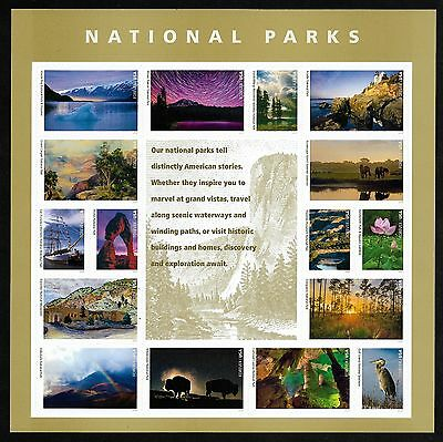 #5080 National Parks (forever) 2016 Issue - MNH Sheet of 16