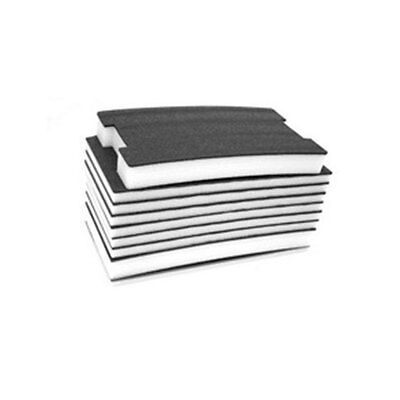 "FastCap FOAM20BW 2' x 4' 20MM Kaizen Black/White Foam with 1/8"" Layered Section"