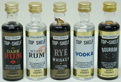 5 bottles of Still Spirits Flavouring, make your own whiskey, rum, scotch, etc.