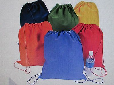 6 CANVAS DRAWSTRING BACKPACKS Bags FREE SH party favors supplies BIRTHDAY Nice