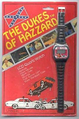Dukes Of Hazzard 1981 LCD Quartz Watch New on Blister Card