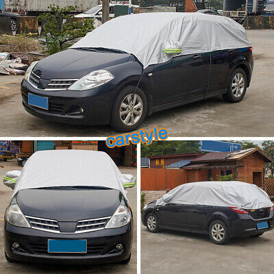 Half Car Covers Body Sun shade Waterproof Cover Sunscreen UV Snow Resistant