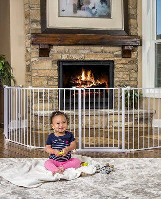 Regalo 192-inch Super Wide Baby Gate & Play Yard in White Steel Frame, 1350 New