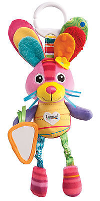 Lamaze PLAY & GROW BELLA THE BUNNY Soft Pram Toy Rattle Baby/Toddler/Child BN