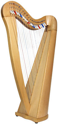 Glenluce Black Loch 22 STRING CELTIC HARP (Lap/Knee), 3 Octave. From Hobgoblin