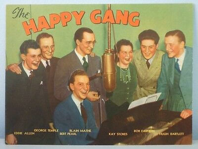 1941 Colgate-Palmolive Co. The Happy Gang Picture Premium With Mailer Envelope