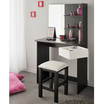 eck schminktisch frisiertisch jugendschminktisch volage schwarz wei mit spiegel eur 299 00. Black Bedroom Furniture Sets. Home Design Ideas