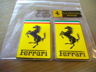 2 x Aufkleber Sticker FERRARI Original Official  NEU 84 x 53 mm Adhesivo  Decal