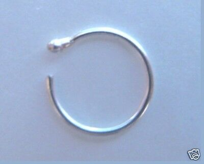 TIGHT FIT - Tiny Nose Ring - STERLING SILVER - 6mm Diameter x 0.5mm (extra thin)