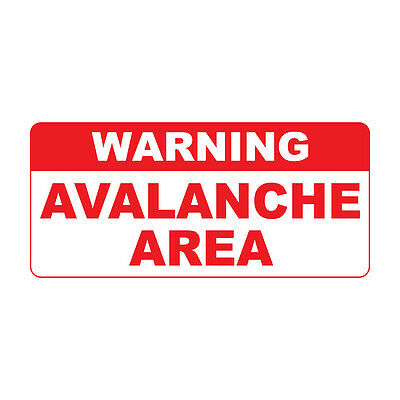 Warning Avalanche Area Retro Vintage Style Metal Sign - 8 In X 12 In