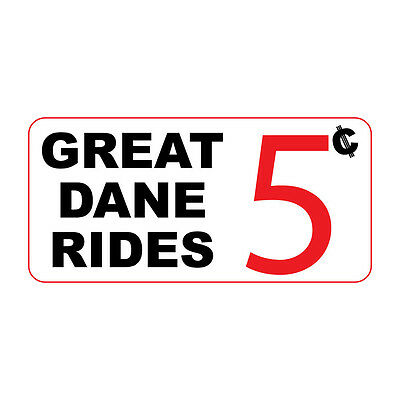 ed11e14cde1594 Great Dane Rides 5C Retro Vintage Style Metal Sign - 8 In X 12 In With