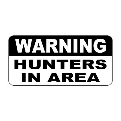 Warning Hunters In Area Retro Vintage Style Metal Sign - 8 In X 12 In
