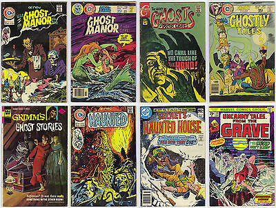 Lot of 8 Silver/Bronze Age Horror/Ghost Story Comic Books