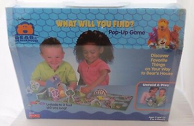 Fisher Price 42349 Bear in the Big Blue House What Will You Find Pop Up Game NEW