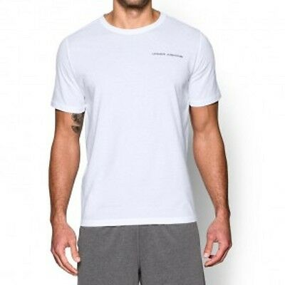 """Under Armour- T-Shirt """"Charged Cotton"""". white. S-XL. Kampfsport. MMA Lifestyle."""