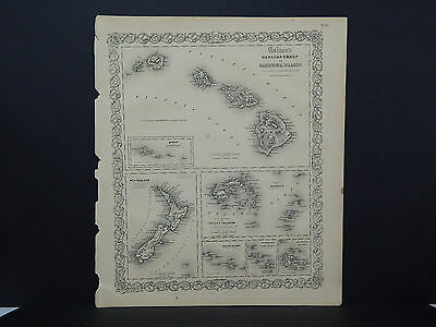 Colton's Maps, 1855, Authentic, Hawaii #2