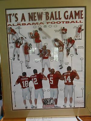 "Very ""Rare"" ALABAMA CRIMSON TIDE Print 1998 ""It's A New Ball Game"""