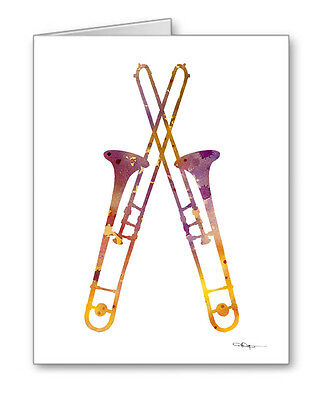 TROMBONES Note Cards With Envelopes