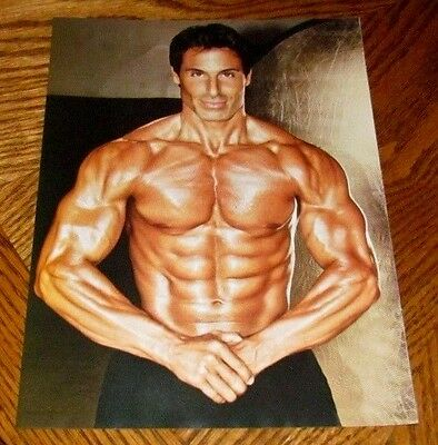 Shirtless Fitness Model 8X10 PINUP Clipping Male Shredded Chest Abs Arms