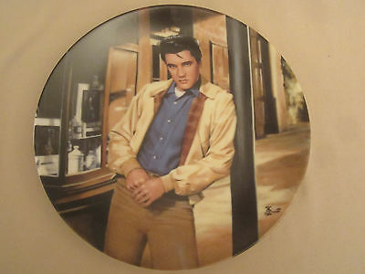ELVIS PRESLEY: YOUNG AND WILD collector plate #1 THE KING OF CREOLE Bruce Emmett