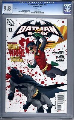 Batman and Robin #11  Andy Clarke Variant Cover  1st Print   CGC 9.8