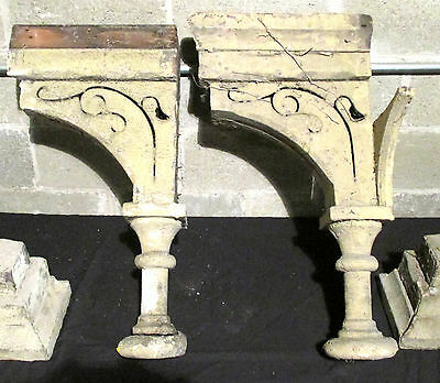 ~ Set 4 Spectacular Antique Corbels ~ 29 Tall ~ Architectural Salvage