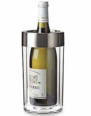 Wine Enthusiast Double Walled Iceless Wine Bottle Chiller Cooler Container NEW
