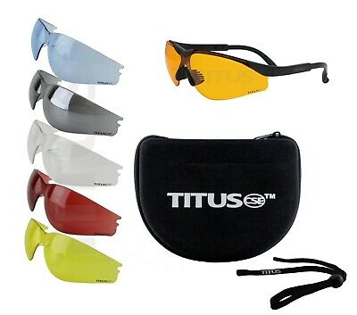 10Pc 6 Lens Changeable Shooting Safety Glasses Eye Protection Multi-Lens Bundle