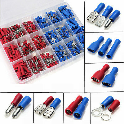 360Pcs Assorted Insulated Electrical Wire Terminals Connector Crimp Spade Set