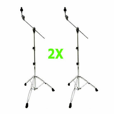 2 X DP Percussion CB3670 Pro Boom Cymbal Stands 5 Year Warranty Extra Heavy Duty