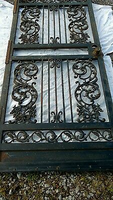 Vintage Wrought Iron Entry Door