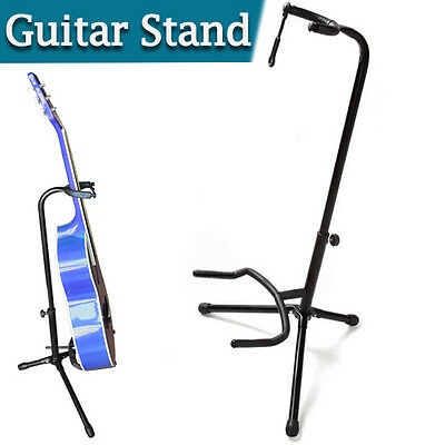 Folding Electric Acoustic Bass Tripod Guitar Stand GIG Floor Rack Holder New