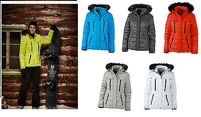 JN1101 JAMES & NICHOLSON Ladies' Stylische Winterjacke Wintersport Materialmix