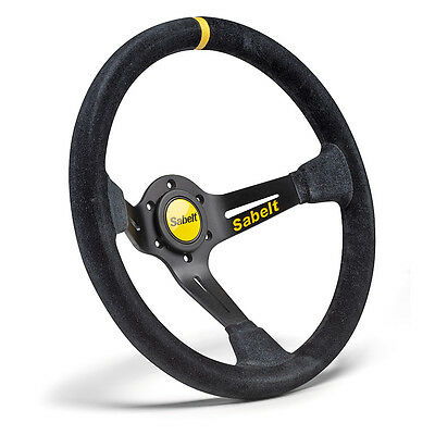 Sabelt SW-390 RFVO2005X Dished Steering Wheel Black Suede 350mm Race Rally