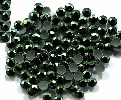 RHINESTUDS Faceted  BLACK  2mm Hot Fix Iron on 144 Pc  1 gross
