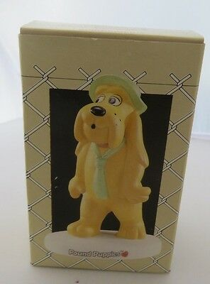 "1987 Pound Puppies ""Scrounger"" Porcelain 5-inch Figurine MIB"