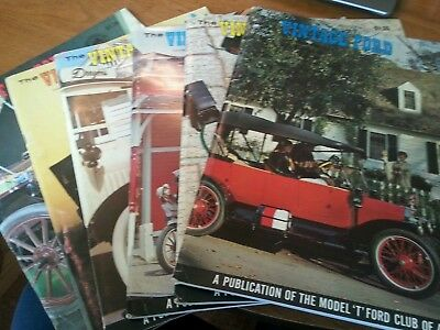 "Lot of 6 The Vintage Ford Magazines 1969 Model ""T"" Club COMPLETE YEAR"