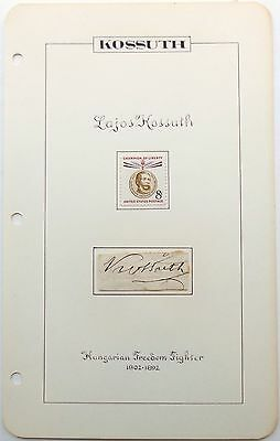 Lajos Kossuth 1st President Of Hungary Revolution 1848 Autograph