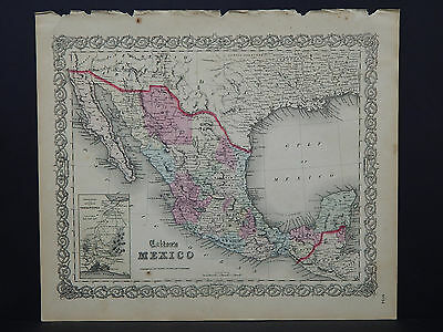 Colton's Maps, 1855, Authentic #08 Mexico