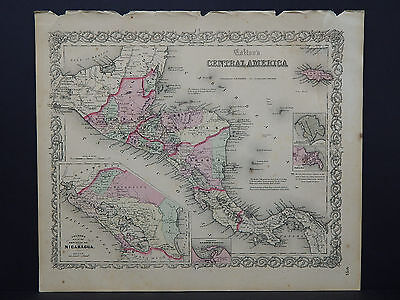 Colton's Maps, 1855, Authentic #10 Central America
