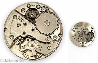 CAUNY PRIMA  original watch movement.FHF 96 Swiss made for parts (2815)