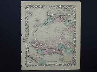 Colton's Maps, 1855, Authentic #36 Africa