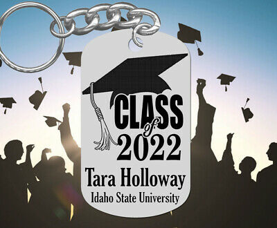 Class of 2019 GRADUATION Keychain Gift, Personalized FREE with NAME & School!