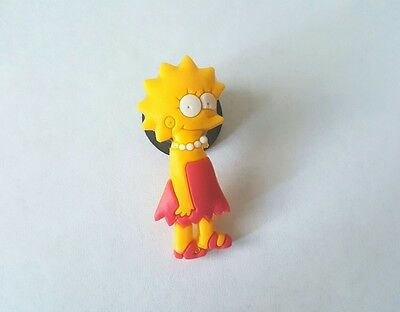 Lisa Simpson Shoe Button Charm for Crocs NEW