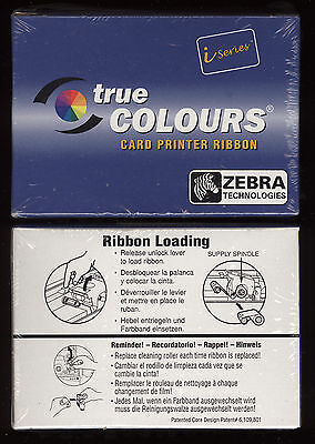 1x ZEBRA Farbband True Colors card printer ribbon i series 800015-440