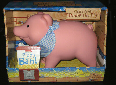 Schylling Pink  Penny the Piggy Bank Money Toy