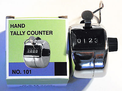 Metal tally counter hand cell golf clicker number score new fast US shipping