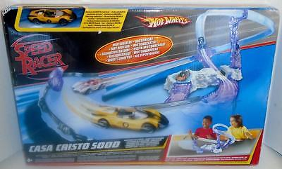 Hot Wheels Speed Racer Track Set Casa Cristo 5000 Maltese Ice Caves New in Box